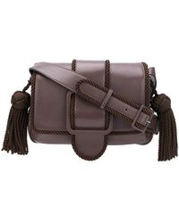41bf4c476b3c Burberry Small Woven Rope Crossbody Bag in Brown - Lyst
