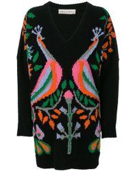 Veronique Branquinho - Peacock V-neck Sweater - Lyst