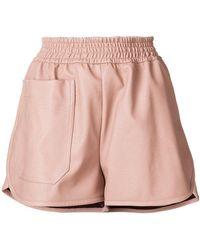Stella McCartney - Faux Leather Shorts - Lyst