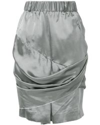 Moohong - Draped Shorts - Lyst