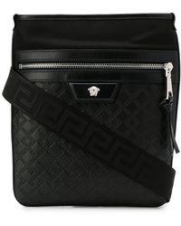 Versace - Medusa zipped messenger bag - Lyst