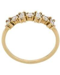 Ileana Makri - 18kt Yellow Gold Baguette Diamond Band - Lyst