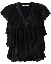 Givenchy - Ruffled Sleeveless Top - Lyst