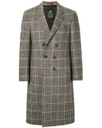 Loveless - Straight-fit Buttoned Coat - Lyst