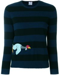Ultrachic - Striped Embroidered Sweater - Lyst