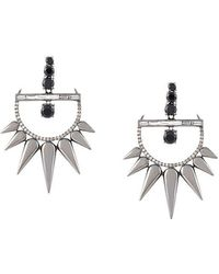 Elise Dray - Diamond Drop Spiked Earrings - Lyst