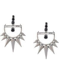 Elise Dray | Diamond Drop Spiked Earrings | Lyst