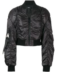 Versus - Cropped Ruched Bomber Jacket - Lyst