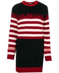 Pinko - Striped Jumper Dress - Lyst