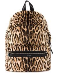 Saint Laurent - Fur Leopard Backpack - Lyst