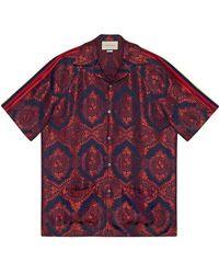 4491399f90f Gucci - Жаккардовая Рубашка С Узором Барокко - Lyst