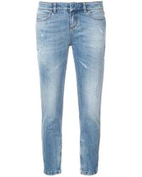 Faith Connexion - Cropped Skinny-fit Jeans - Lyst
