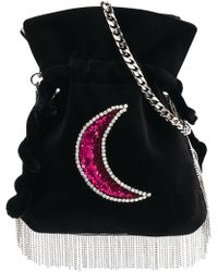 Les Petits Joueurs - Embellished Fringed Crossbody Bag - Lyst