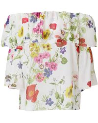 Blugirl Blumarine - Floral Print Ruffled Blouse - Lyst
