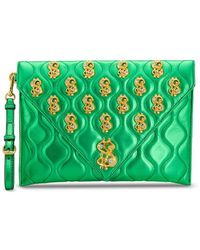 Moschino Dollar クラッチバッグ - グリーン