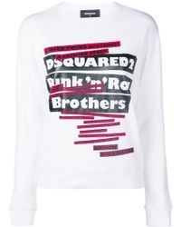 DSquared² - 'punk N Roll Brothers' Print Sweater - Lyst