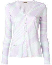 Roberto Cavalli - Contrast Fitted Cardigan - Lyst