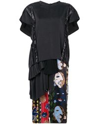 Carven - Mid-length T-shirt Dress - Lyst