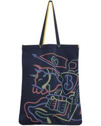 Burberry | Large Archive Logo Jersey Shopper | Lyst