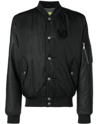 Versace Jeans - Snap Fastening Bomber Jacket - Lyst