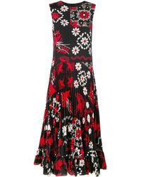 RED Valentino Vestido estampado Decorated Terrace - Negro