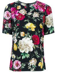 Dolce & Gabbana - Floral Short-sleeve Top - Lyst