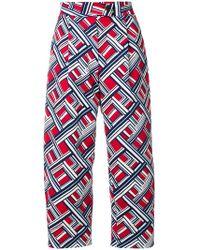 Carven - Geometric Print Trousers - Lyst