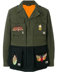 Gucci - Embroidered Military Jacket - Lyst