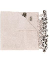 N.Peal Cashmere - Fur Bobble Cashmere Scarf - Lyst