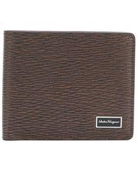 Ferragamo - Textured Billfold Wallet - Lyst