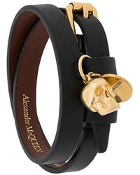 Alexander McQueen - Skull Double-wrap Bracelet - Lyst