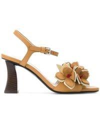 Marni - Floral Applique Sandals - Lyst