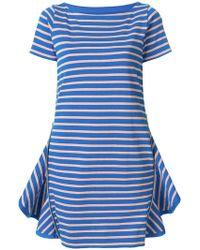 Sacai - Ruffle Vent T-shirt Dress - Lyst