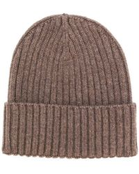 Dell'Oglio - Ribbed Knit Beanie - Lyst