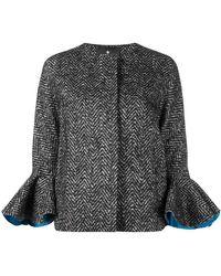 Capucci | Ruffle Cuff Cropped Coat | Lyst