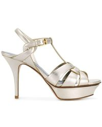 Saint Laurent - Tribute Sandals - Lyst