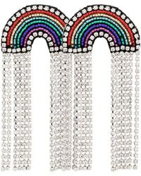Venessa Arizaga - Multicoloured Rainbow Crystal And Rhinestone Earrings - Lyst