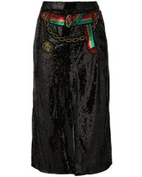 Marco De Vincenzo - Sequined Split Skirt - Lyst