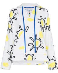 Mira Mikati - V-neck Sunshine Print Cotton Hoodie - Lyst