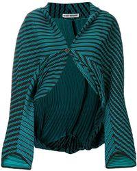 Issey Miyake   Striped Cropped Jacket   Lyst