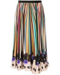 Paul Smith Black Label - Striped Skirt - Lyst