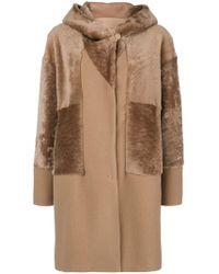 DROMe - Hooded Mid Fur Coat - Lyst