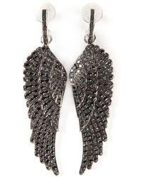 Garrard - Diamond Wing Earrings - Lyst