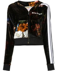 Palm Angels - Printed Velvet Bomber Jacket - Lyst