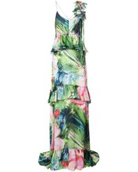 Josie Natori - Sunset Palms Tiered Dress - Lyst