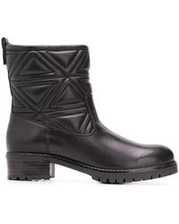 Emporio Armani - Quilted Ankle Boots - Lyst