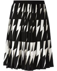 Neil Barrett | Lightning Bolt Pleated Skirt | Lyst