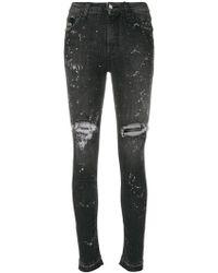John Richmond - Distressed Skinny Jeans - Lyst