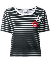 Twin Set - Striped Star Patch T-shirt - Lyst