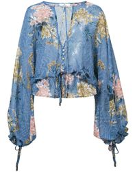 We Are Kindred - Floral Sheer Blouse - Lyst